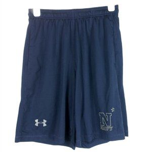 Under Armour Heat Gear Navy Blue Shorts Loose Med